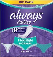 Always Dailies Inlegkruisjes Flexistyle Normaal 58 stuks