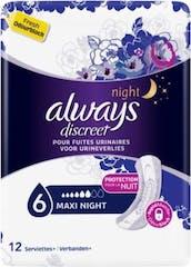Always discreet damenbinden night