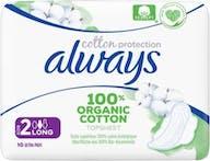 Always Maandverband Bio Cotton Long 10 stuks
