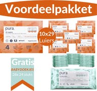 Pura Voordeelpakket - 2 Maandboxen Maat 4 + Gratis 672 Pura Babydoekjes