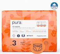 Pura Eco-Friendly luiers Maat 3 (6-10kg), 198 luiers