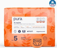 Pura Eco-Friendly luiers Maat 5 (11-25kg), 125 luiers