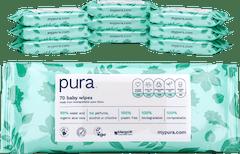 Pura 100% Plasticvrije Biologisch Afbreekbare Babydoekjes - 700 doekjes