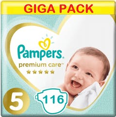 Pampers Premium Care Maat 5 - 116 Luiers Voordeelverpakking