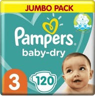 Pampers Baby Dry Luiers Maat 3 - 120 Luiers Voordeelverpakking
