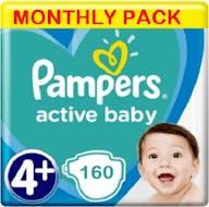 Pampers Active Baby Maat 4+ - 160 Luiers Maanbox
