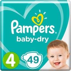 Pampers Baby Dry Maat 4 - 49 Luiers