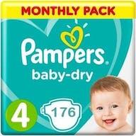 Pampers Baby Dry Maat 4 – 176 Luiers