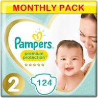 Pampers Premium Protection Luiers Maat 2 - 124 Luiers Maandbox