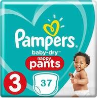 Pampers Baby Dry Pants Maat 3 - 37 Luierbroekjes