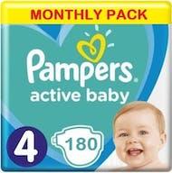 Pampers Active Baby Maat 4 - 180 Luiers Maandbox
