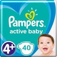 Pampers Active Baby Maat 4+ - 40 Luiers