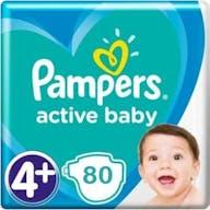 Pampers Active Baby Maat 4+ - 80 Luiers