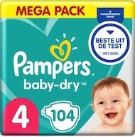 Pampers Baby Dry Luiers Maat 4 - 104 Luiers Voordeelverpakking
