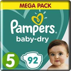 Pampers Baby Dry Maat 5 - 92 Luiers Voordeelvepakking