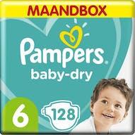 Pampers Baby Dry Maat 6 - 128 Luiers  Maandbox