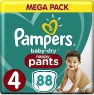 Pampers Baby Dry Pants Große 4 - 88 Windelhosen Vorteilspackung