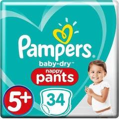 Pampers Baby Dry Pants Maat 5+ - 34 Luierbroekjes
