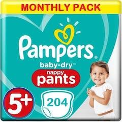 Pampers Baby Dry Pants Maat 5+ - 204 Luierbroekjes Maandbox XL