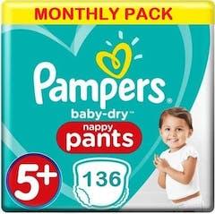 Pampers Baby Dry Pants Große 5+ -136 Windelhosen