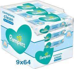 Pampers Complete Clean Babydoekjes - 9x64 stuks = 576 Babydoekjes
