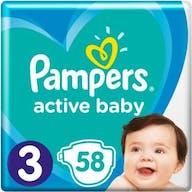Pampers Active Baby Luiers Maat 3 - 58 Luiers