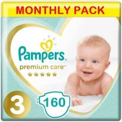 Pampers Premium Care Große 3 - 160 Windeln Monatsbox