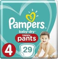 Pampers Baby Dry Pants Maat 4 - 29 Luierbroekjes