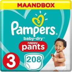 Pampers Baby Dry Pants Große 3 - 208 Windelhosen Monatsbox XL