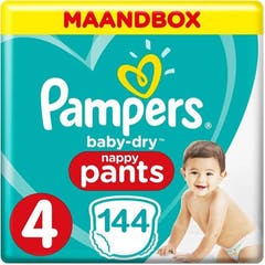 Pampers Baby Dry Pants Maat 4 - 144 Luiers Maandbox
