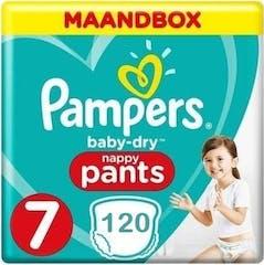 Pampers Baby Dry Pants Maat 7 - 120 Luierbroekjes Maandbox