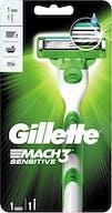 Gillette Mach3 Sensitive Scheerapparaat+1 scheermesje