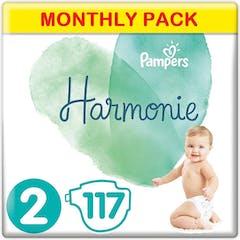 Pampers Harmonie Windeln Große 2 - 117 Windeln Monatsbox