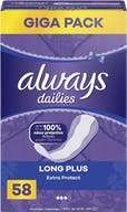 Always Dailies Inlegkruisjes Extra Protect Long Plus 58 stuks