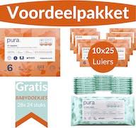 Pura Voordeelpakket - 2 maandboxen maat 6 + Gratis 672 Pura Babydoekjes