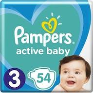 Pampers Active Baby Maat 3 - 54 Luiers