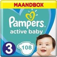 Pampers Active Baby Große 3 -108 Windeln Monatsbox