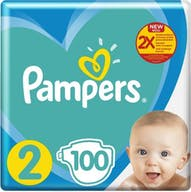 Pampers New Baby Luiers Maat 2 - 100 Luiers Voordeelverpakking
