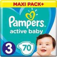 Pampers Active Baby luiers Maat 3 - 70 Luiers