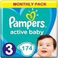 Pampers Active Baby Luiers Maat 3 - 174 Luiers Maandbox