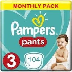 Pampers Baby Dry Pants Große 3 - 104 Windelhosen Monatsbox