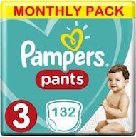 Pampers Baby Dry Pants Maat 3 - 132 Luierbroekjes Maandbox