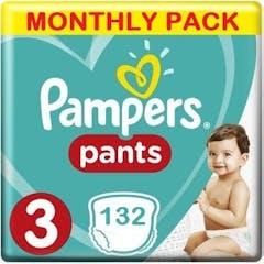 Pampers Baby Dry Pants Große 3 - 132 Windelhosen Monatsbox