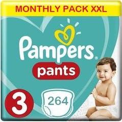 Pampers Baby Dry Pants Große 3 - 264 Windelhosen Monatsbox XXL