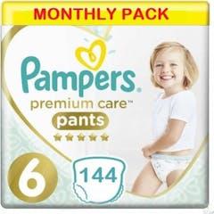 Pampers Premium Care Pants Maat 6 - 144 Luiers Maandbox